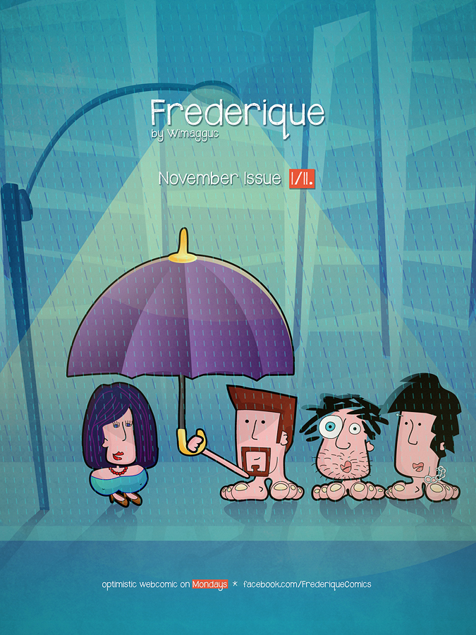 Cover for November 2012 -- optimistic webcomics from Frederique