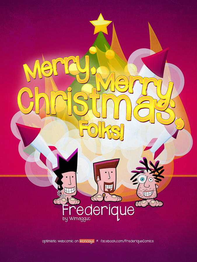 Christmas 2012 Cover Frederique The Optimistic Webcomic